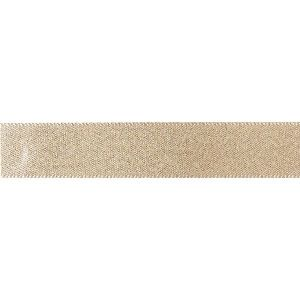 Double Faced Satin Ribbon - Gold Glitter 15mm x 20m